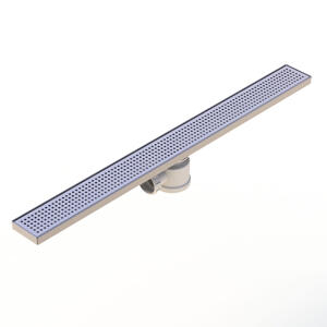 Kent's Linear square perforated shower drain