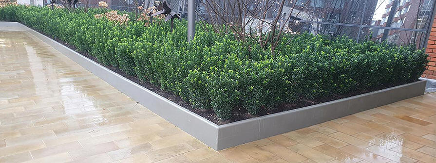Stainless Steel Planter Edging by Kent
