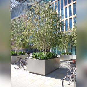 Kents anti-terrorism planter outside a building