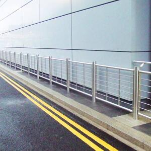 A row of Kents HVM balustrade outside Dublin airport