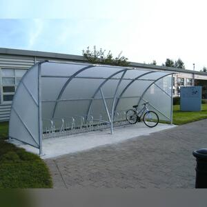 Kents stainless steel bicycle shelter in Blanchardstown