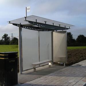 Kents single-sided bus shelter