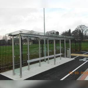 Kent Carrickmines waiting shelter for short stay seating