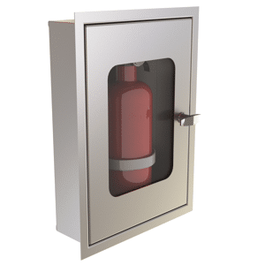 Stainless steel fire extinguisher by Kent