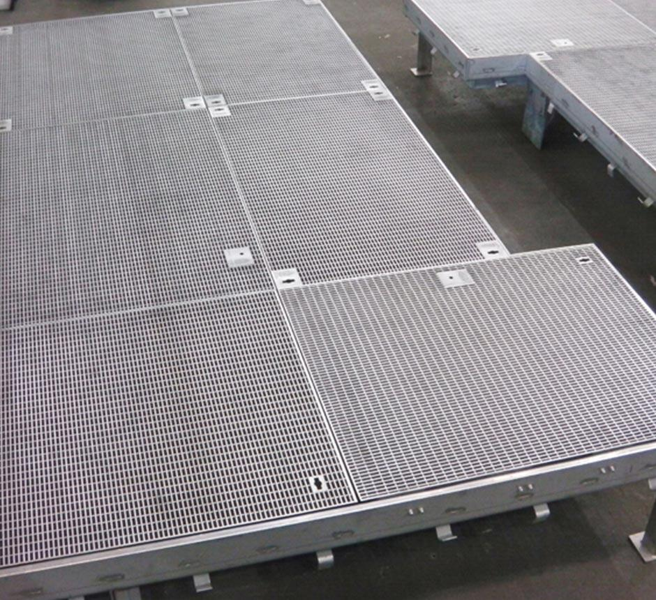 Kent's multi hinged ventilation grille in a factory