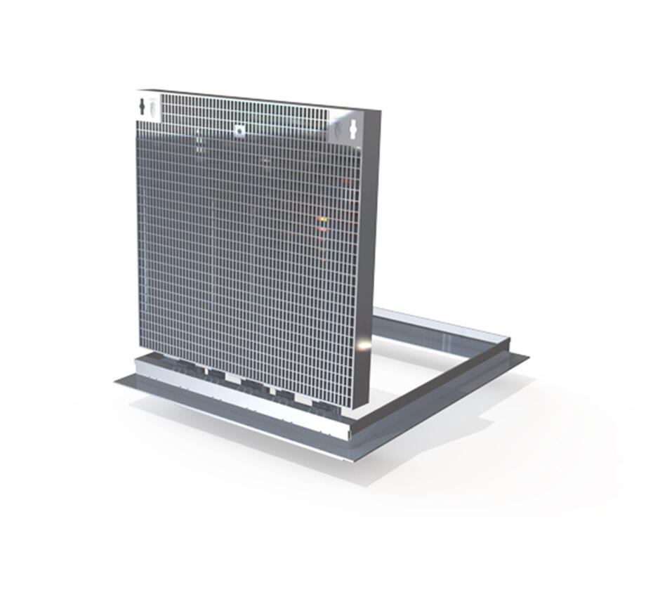 Model of Kent's hinged solo ventilation grille