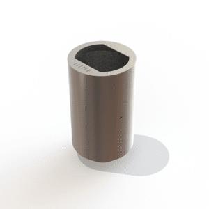 Stainless steel Roma litter bin by Kent
