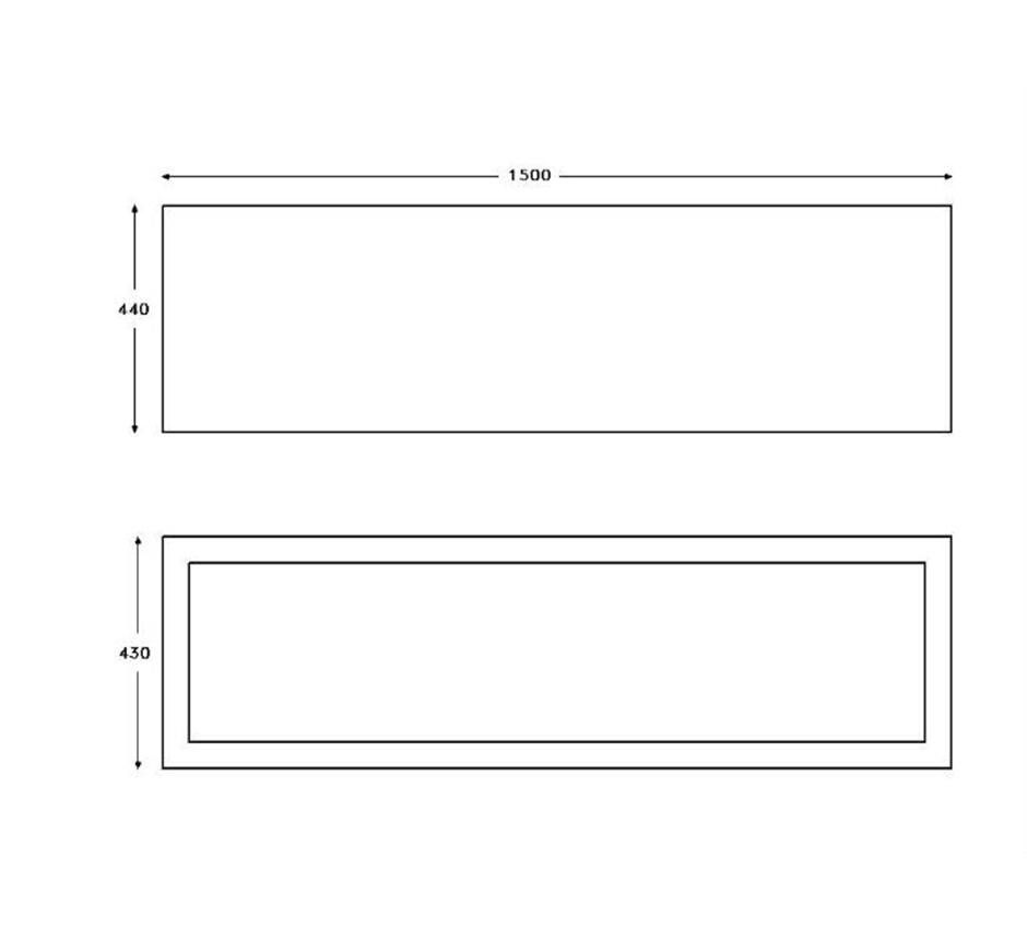 Line drawing of Kent's Rectangle Planter
