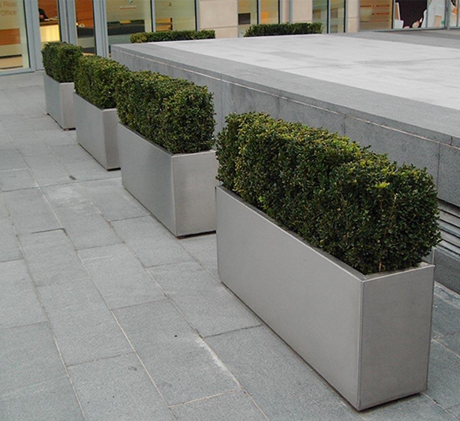 Kent's Rectangle Planter in use