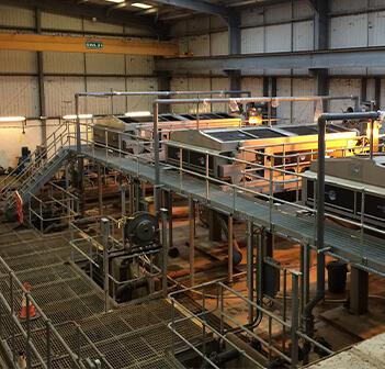 Kent's Belt filter presses at Hogsmill wastewater treatment plant