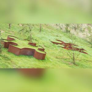 Jigsaw puzzle public art sculpture by Kent