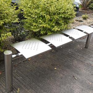 Side angle view of Kents Bristol Bench