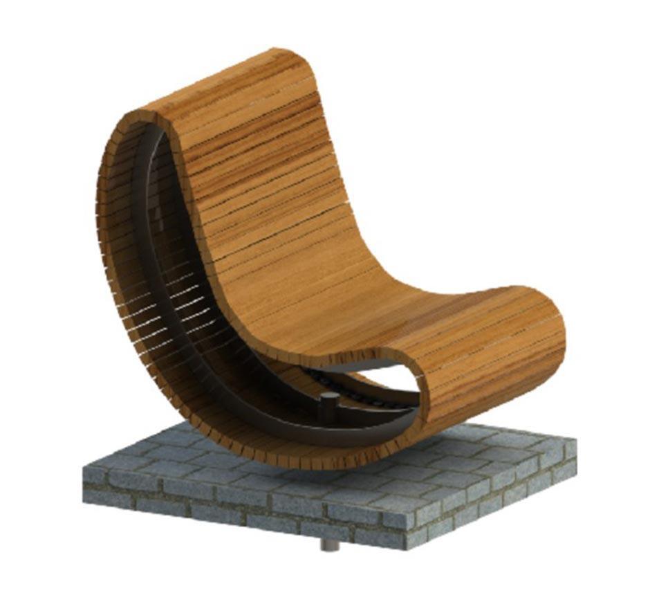 CAD drawing of Kents Battersea swivel seat