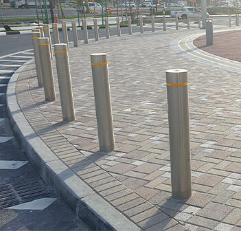 Kent's stainless steel bollards for a metro rail station in Doha, Qatar