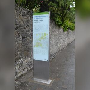 Kents Tallaght Wayfinding Totem on a footpath