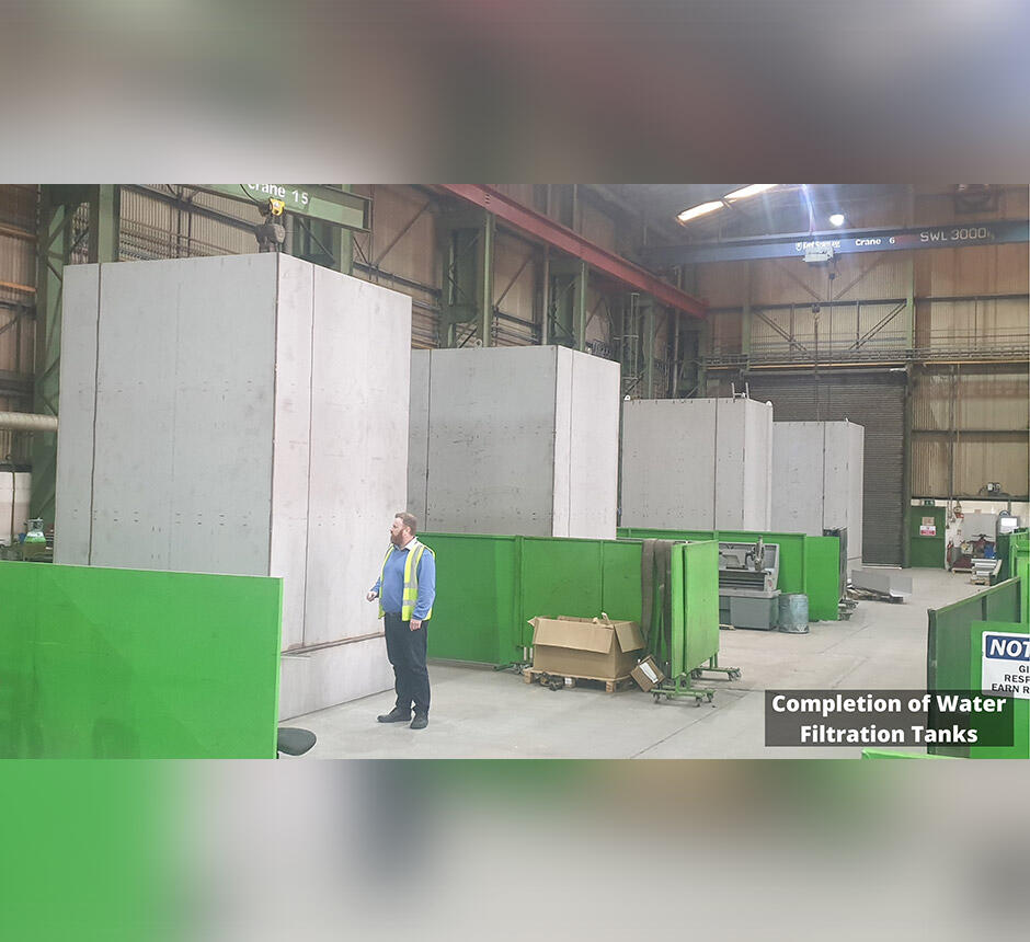 Completion of Water Filtration Tanks in factory