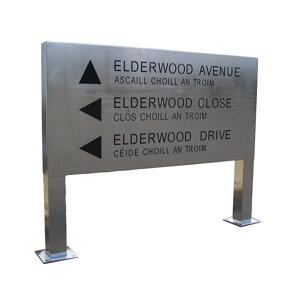 Kent's square post elderwood sign